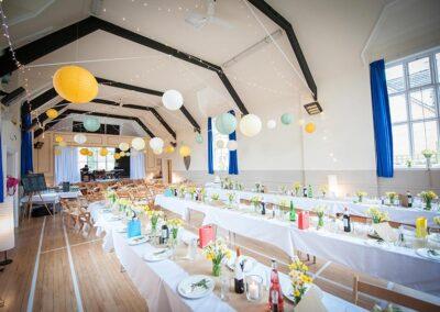 Wedding celebration at Dumbleton Village Hall