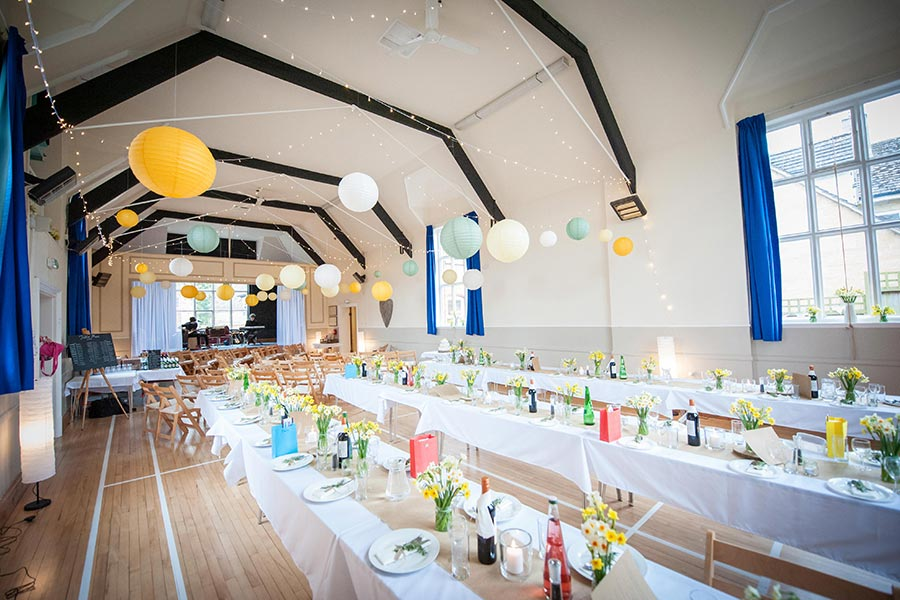 Wedding celebration at Dumbleton Village Hall