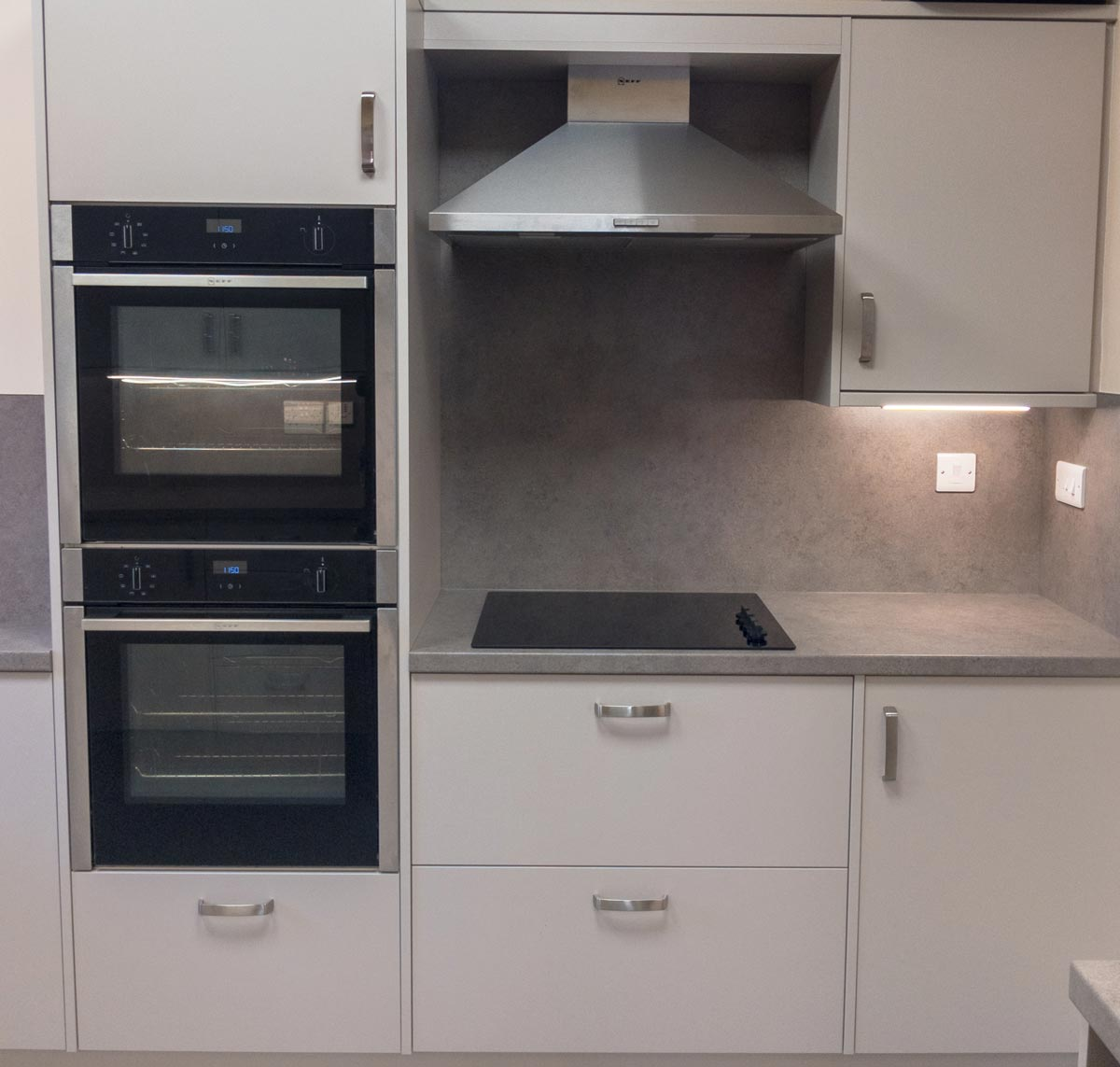 Modern kitchen facilities at Dumbleton Village Hall