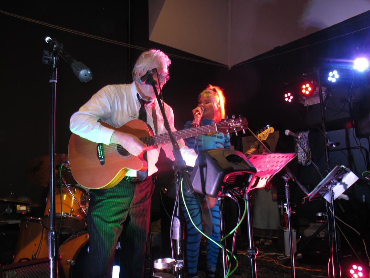 The O B Band playing live at Dumbleton Village Hall