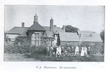 Vintage photo of Dumbleton Village Hall exterior as VA Hospital