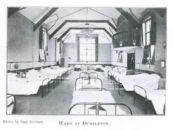 Vintage photo of Dumbleton Village Hall as VA Hospital