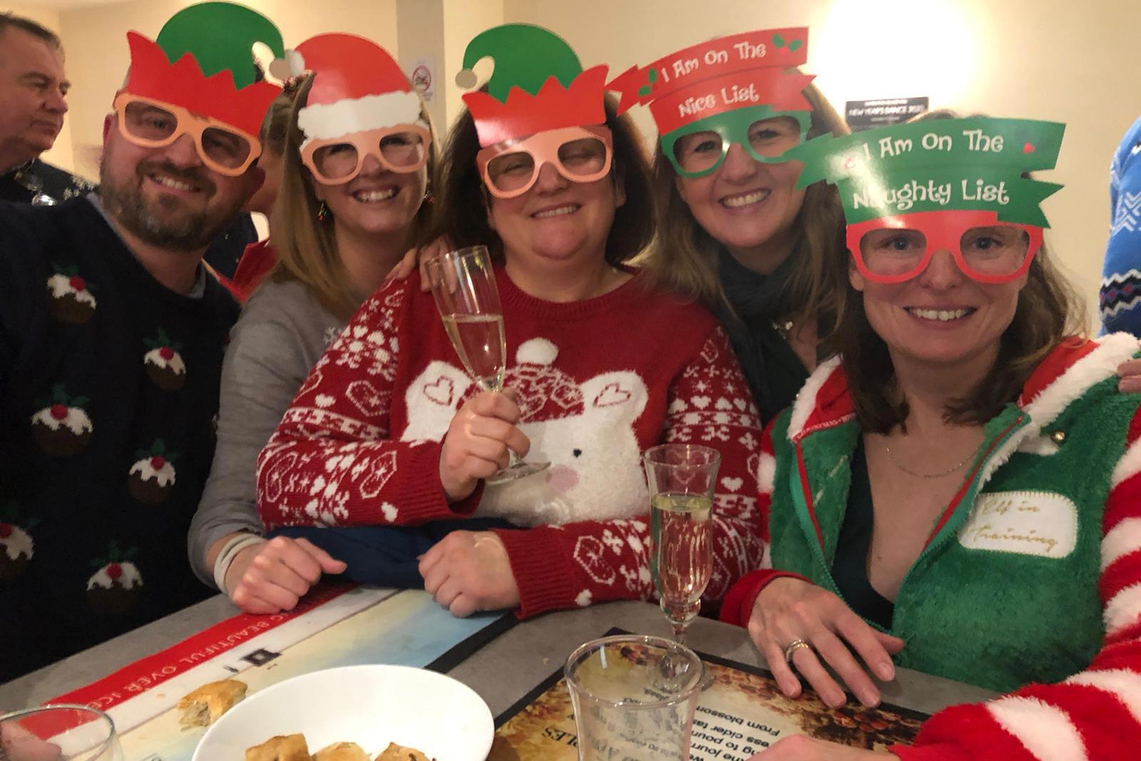 Dumbleton Village Hall Christmas Wine Bar customers