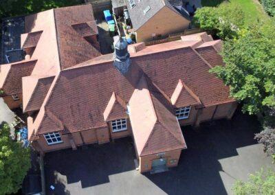 Aerial view of Dumbleton Village Hall