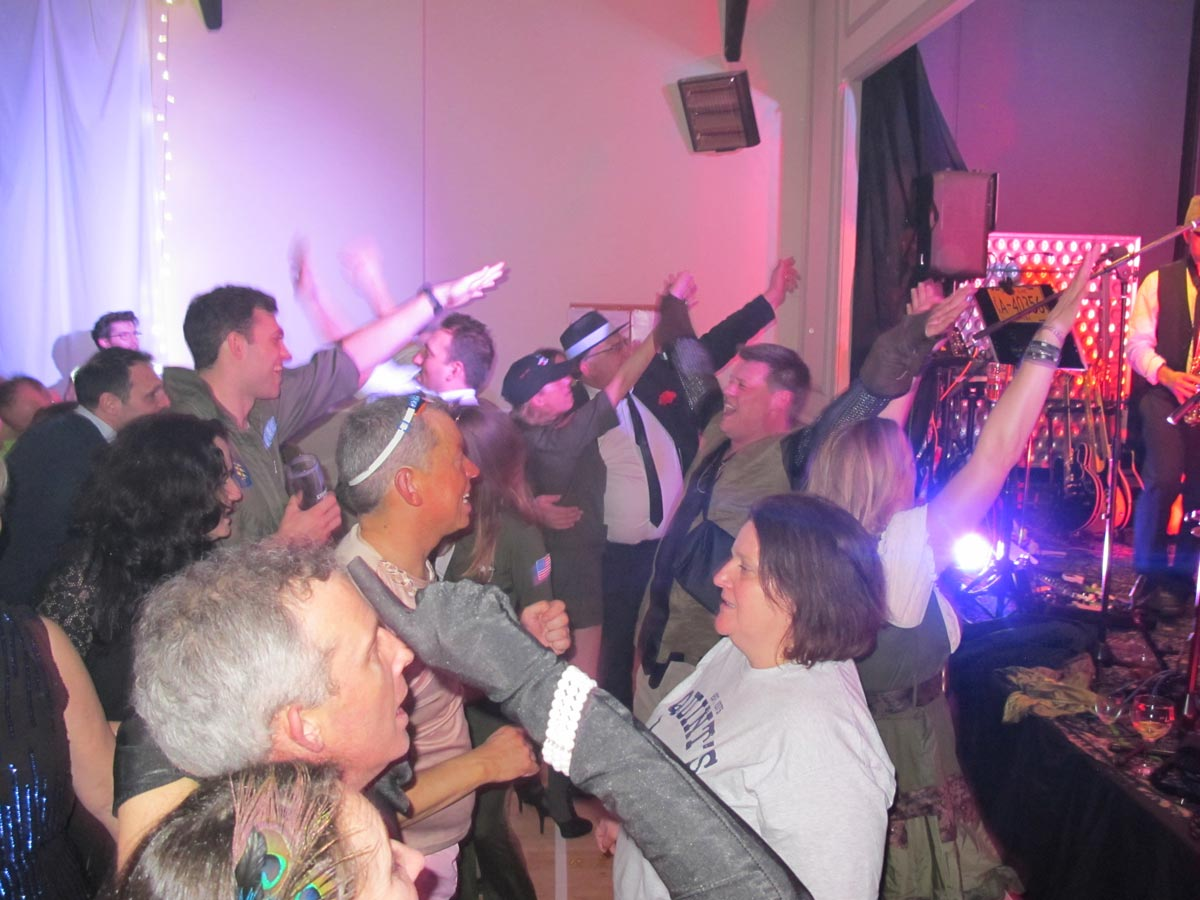 Dancers at the New Year's Dance at Dumbleton Village Hall