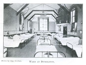 Vintage photo of Dumbleton Village Hall as VA Hospital
