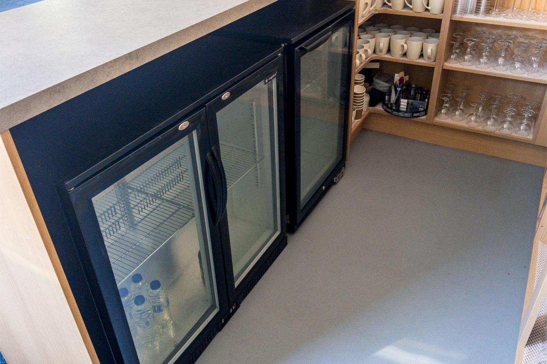 Chiller fridges in the bar area